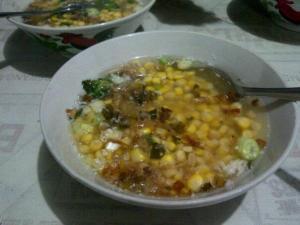 Binte Bilahuta. Sajian khas kuliner dari kota Gorontalo.